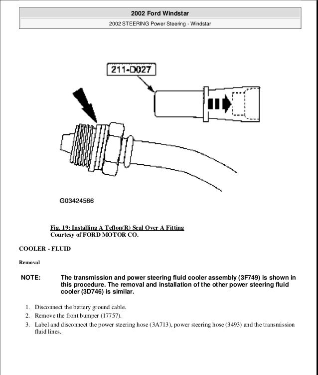 2000 ford windstar parts manual