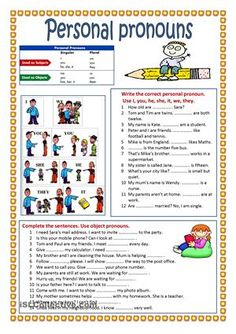 Personal pronouns exercises with answers pdf
