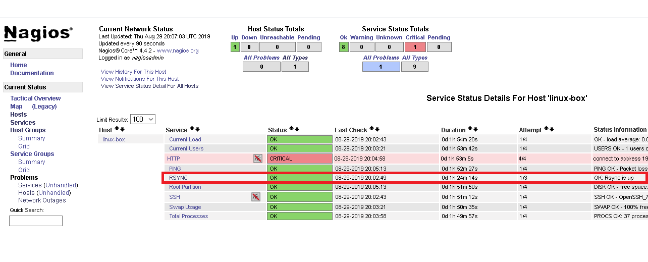 Puppet nagios check disk example