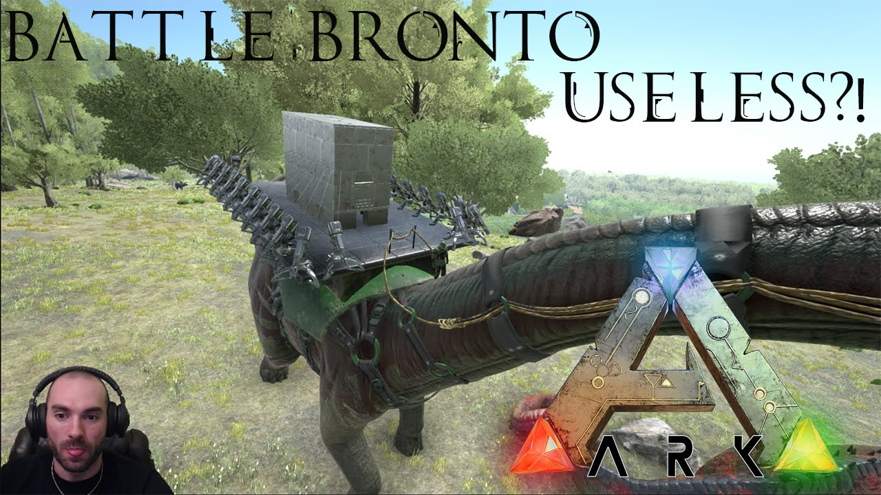 Ark how to get a bronto away