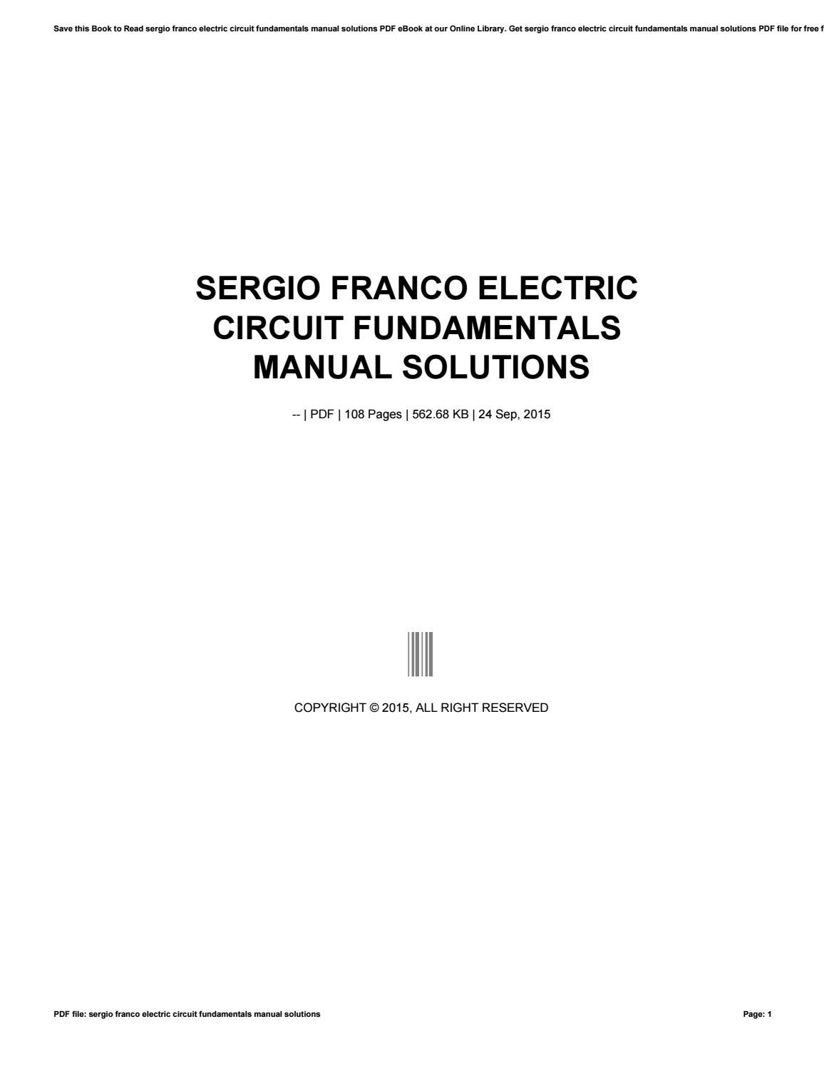pspice manual for electric circuits fundamentals pdf