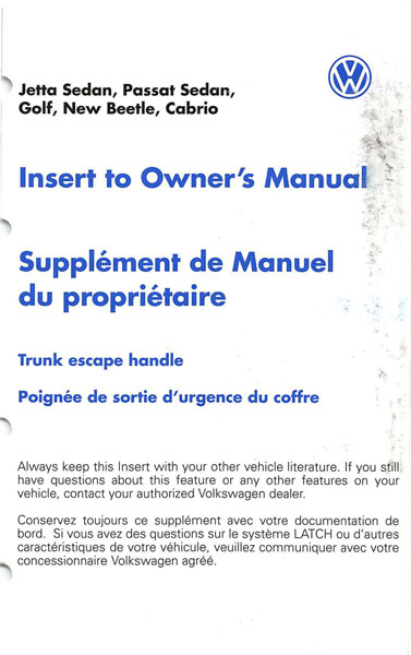 2003 volkswagen passat owners manual pdf