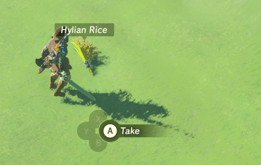 Zelda breath fo the wild how to cut grass