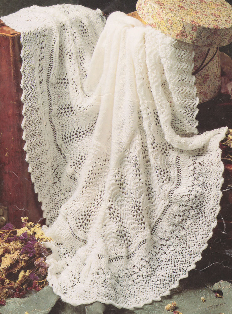 instructions for knitted baby shawls